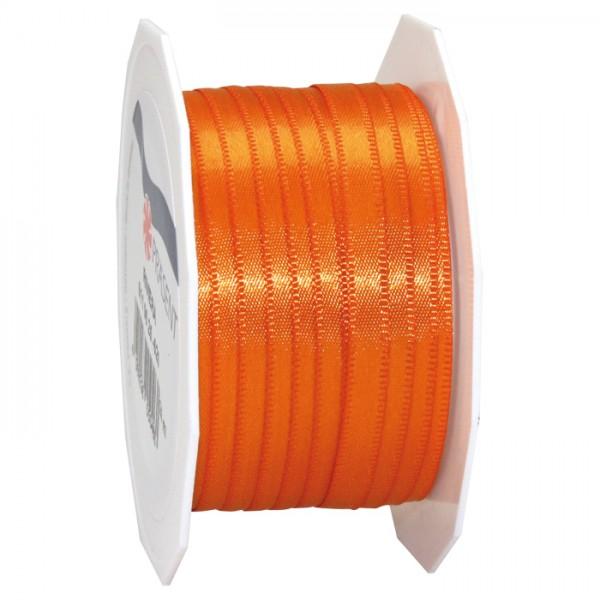 Satinband 10mm 25m orange 100% Polyester