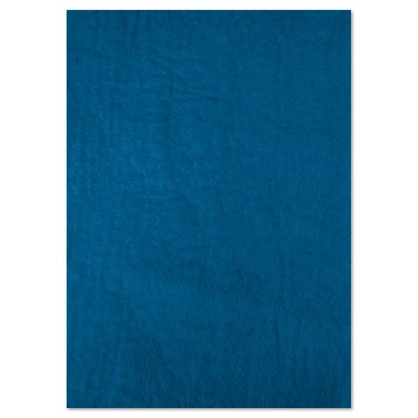 Naturfilzplatte ca. 5mm 50x70cm kobaltblau 100% Wolle