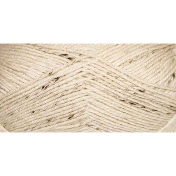 Hauswolle Rustikal ca. 100g flammenbraun 60% Wolle, 40% Polyacryl