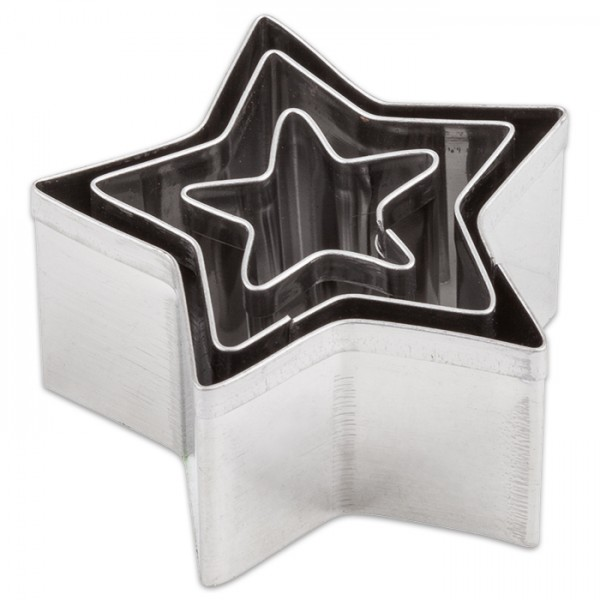 Ausstechformen Metall ca. 2-4cm 3 St. Sterne