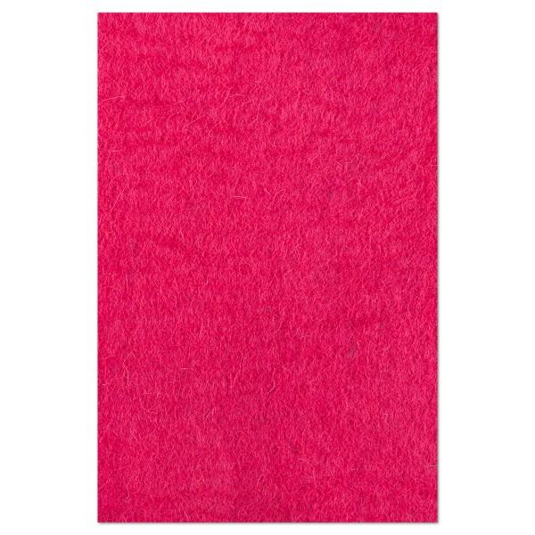 Filzplatte ca. 3-4mm 40x60cm kräftiges rosa 100% Wolle