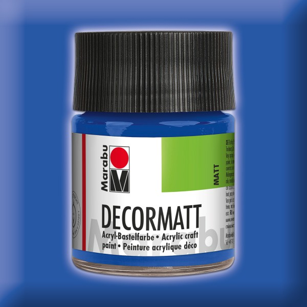 Decorlack Acryl matt 50ml mittelblau