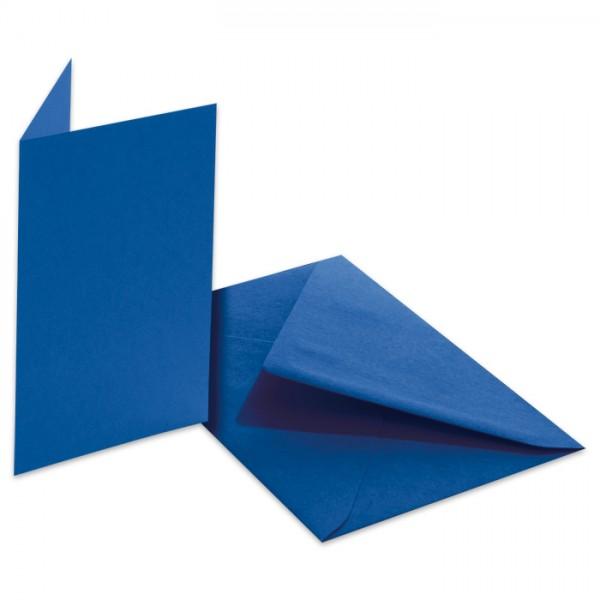 Doppelkarten 220g/m² 10,5x15cm 5 St. königsblau inkl. Kuvert&Einlegeblatt