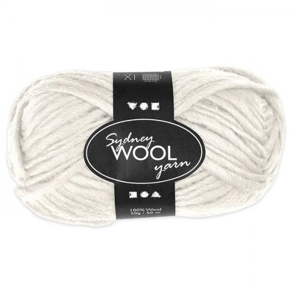 Garn Sydney Filzwolle 50g creme 100% Wolle, LL 50m, Nadel Nr. 8