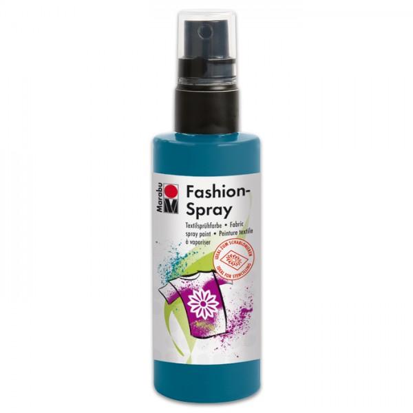 Marabu Fashion-Spray 100ml petrol Textilsprühfarbe für helle Stoffe