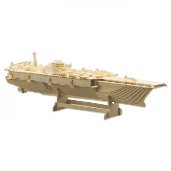 Holzbausatz Flugzeugträger 55x16cm 165 Teile vorgestanzt, zum Zusammenstecken
