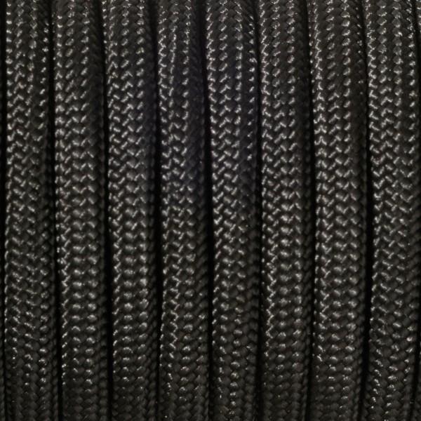 Paracord-Garn rund 4mm 50m schwarz Makramee-Knüpfgarn, 60% Polypropylen, 40% Polyester