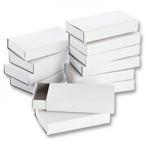 Streichholzschachteln 110x60x20mm 12 St. weiß Karton, ohne Reibfläche & Inhalt