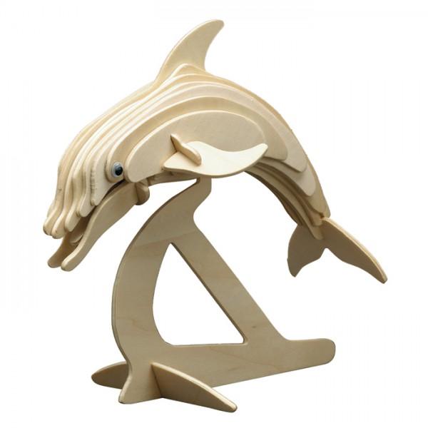 Holzbausatz Delphin 23x20cm 25 Teile vorgestanzt, zum Zusammenstecken