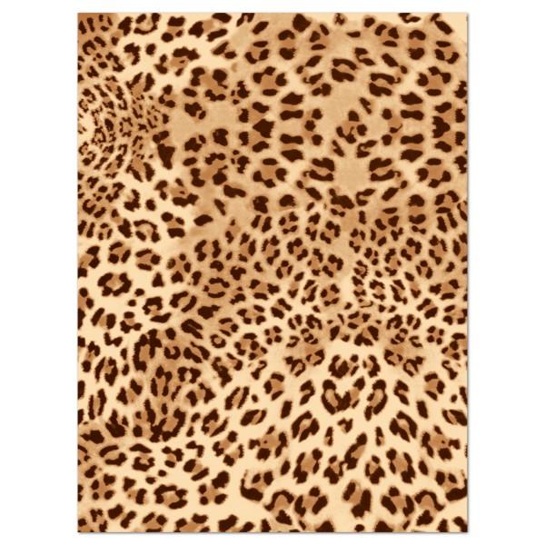 Decoupagepapier Leopardenfell braun/beige von Décopatch, 30x40cm, 20g/m²