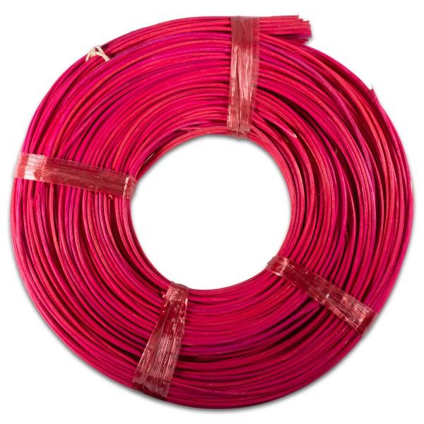 Sonderposten Peddigrohr 2,2mm 200g gebündelt pink-rot multi Fehlfärbung mit Farbeverläufen