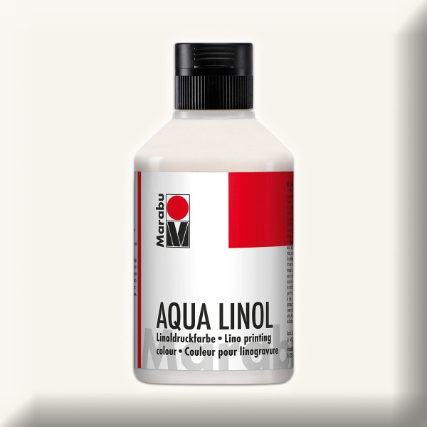 Aqua Linoldruckfarbe 250ml weiß