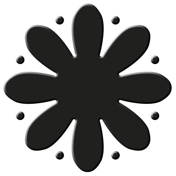 Flexi-Motivstanzer ca. 4cm Blume Kunststoff/Metall, für Papiere bis 220g/m²