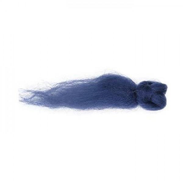 Kammzugwolle Merino 50g marine 100% Wolle vom australischen Merinoschaf, max. 19mic