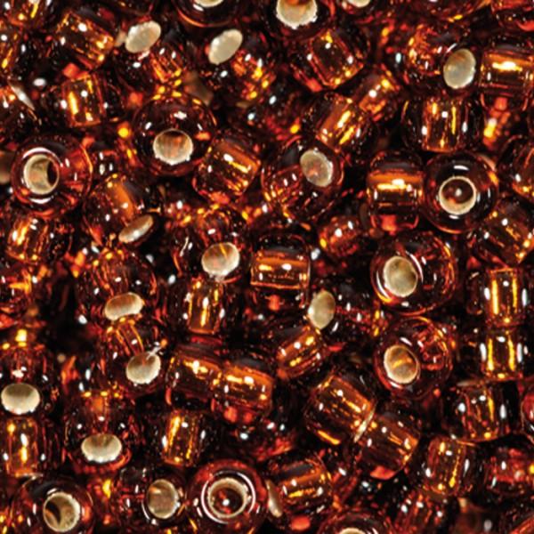 Miyukibeads Silbereinzug 2,2mm 12g smoked topas Glas, Lochgr. ca. 0,9mm