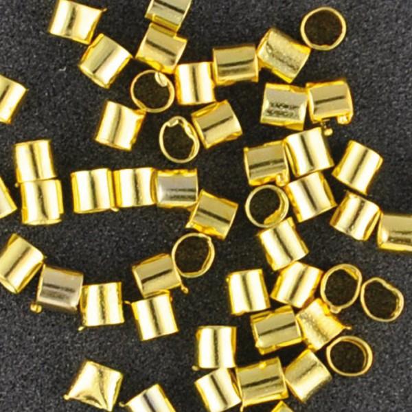 Quetschröhrchen Metall 1,2mm 1,4g goldfarben