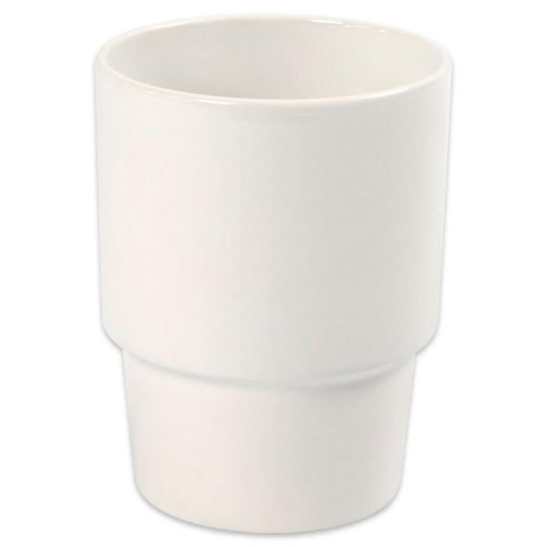 Becher Porzellan ca. Ø 8,5x11cm weiß