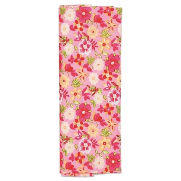 Stoffzuschnitt 100x150cm Blumen rosa-pink 100% Polyester