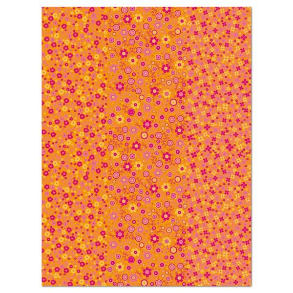 Decoupagepapier Blümchen pink/orange von Décopatch, 30x40cm, 20g/m²