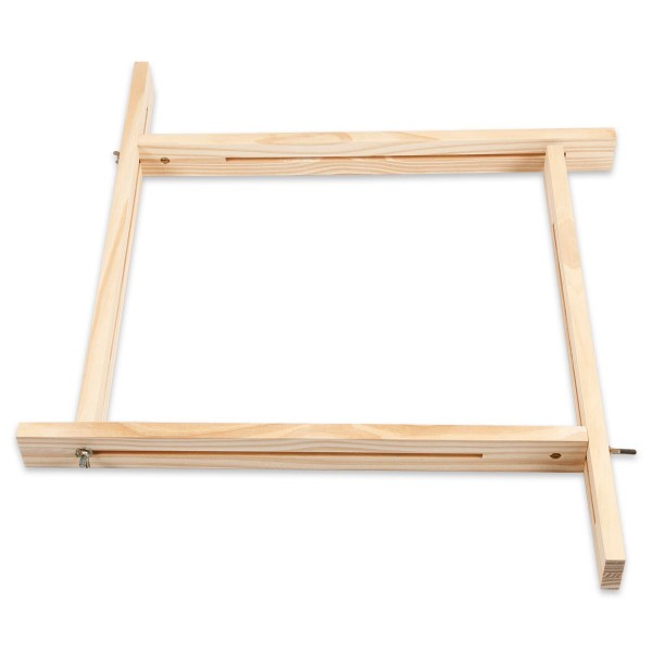 Multifunktionrahmen Holz bis 43cm Länge verstellbarer Rahmen zum Weben und Seidenmalen