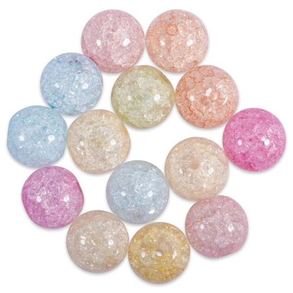Popcorn Glasperlen 6mm 24 St. Mix pastell Lochgröße ca. 1mm
