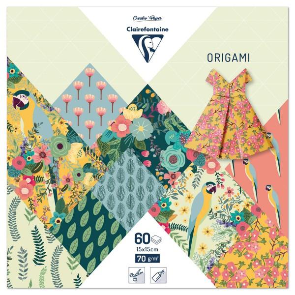 Origami-Papier 15x15cm 60 Bl. Kiribati 70g/m², 30 Motive