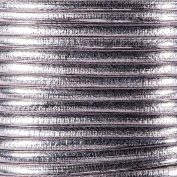 Metallic-Kordel Synthetik 2mm 2m grau