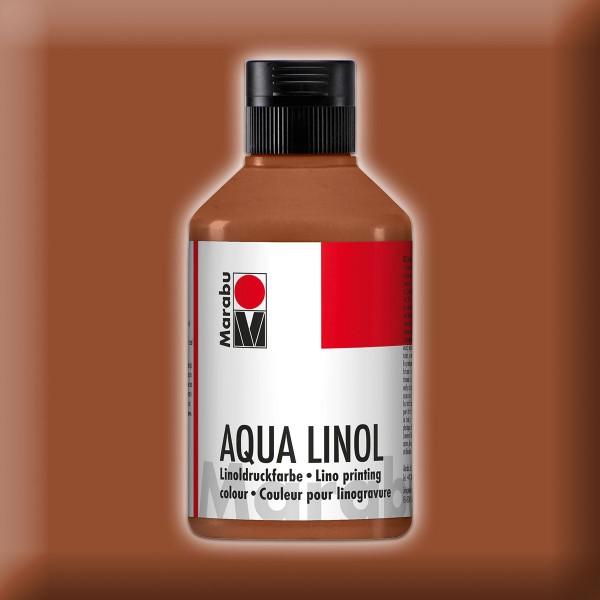 Aqua Linoldruckfarbe 250ml mittelbraun