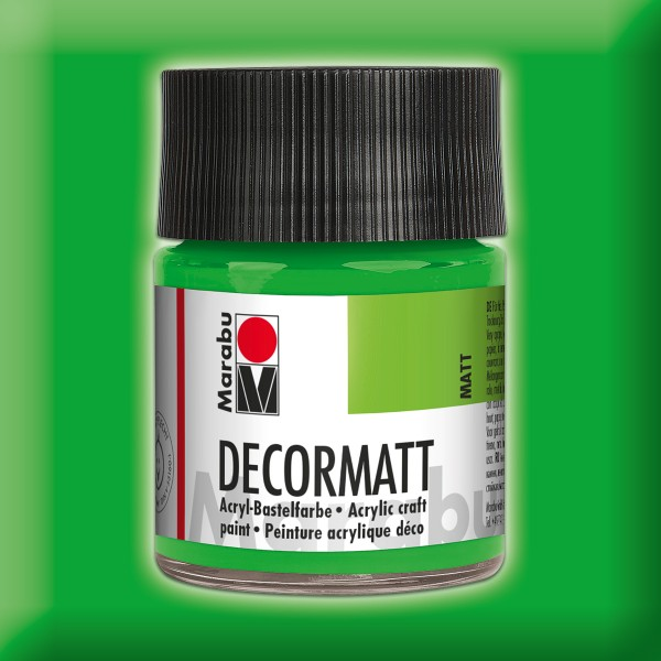 Decorlack Acryl matt 50ml gelbgrün