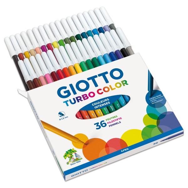 Giotto Turbo Color 36 Fasermaler/Farben Strichbreite 2,8mm