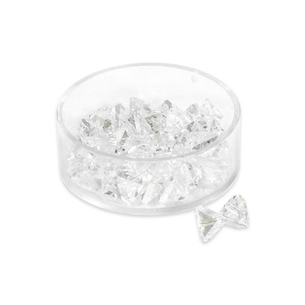 Glasschliffperlen 6mm 18 St. kristall AB Pyramidenform, Lochgr. ca. 1mm