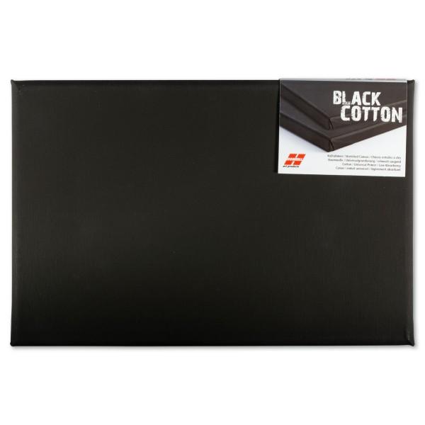 Keilrahmen 20x30cm schwarz 100% Baumwolle, ca. 380g/m²
