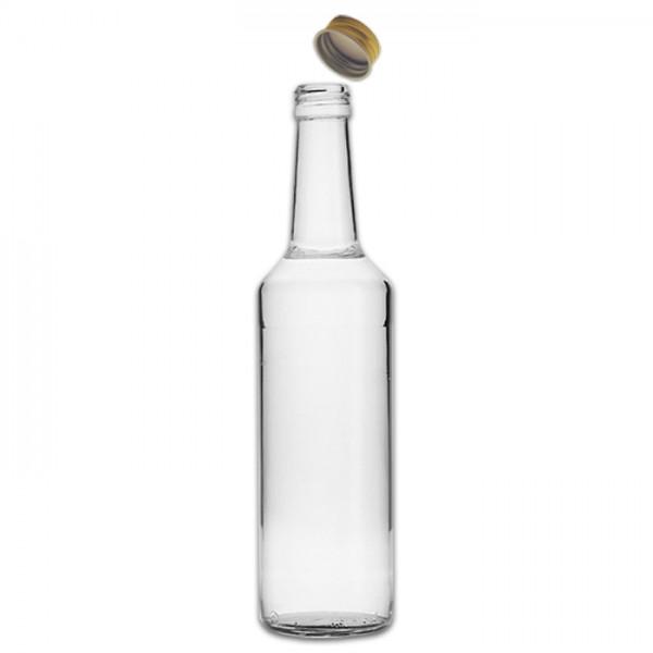 Geradhalsflasche Glas & Metallverschluss 350ml