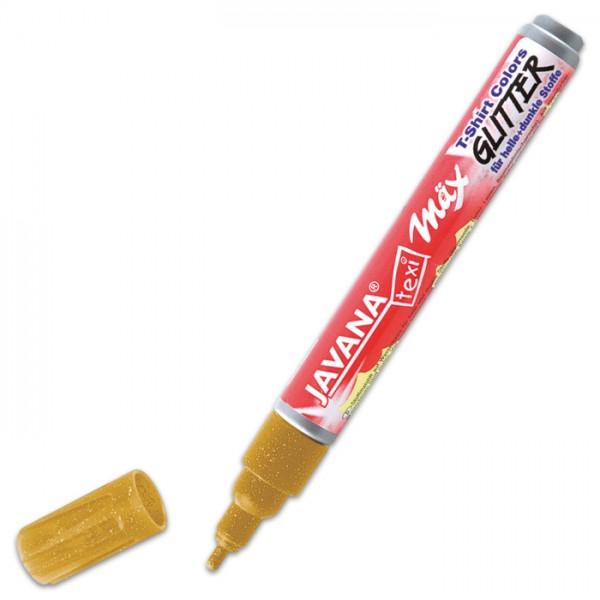 JAVANA Texi-Mäx Stoffmalstift Glitter gold Strichbreite 2-4mm