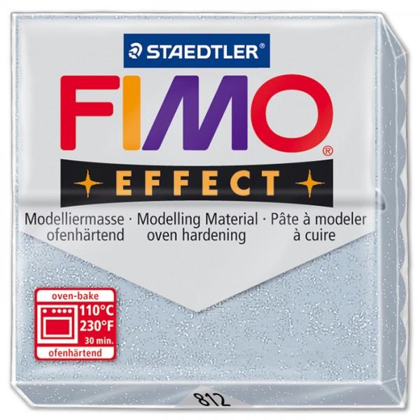 FIMO effect 55x55x15mm 57g glitter silberfarben ofenhärtende Modelliermasse