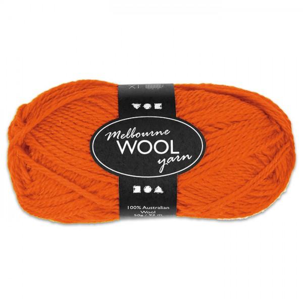 Garn Melbourne Filzwolle 50g orange 100% Wolle, LL 92m, Nadel Nr. 4