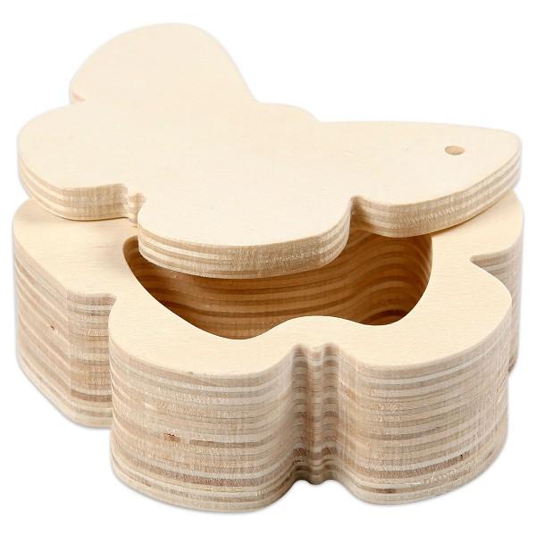 Holzdose Schmetterling 10x4cm natur Magnetverschluss
