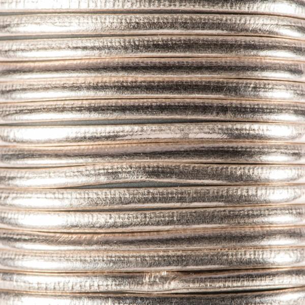 Metallic-Kordel Synthetik 2mm 2m hellbraun