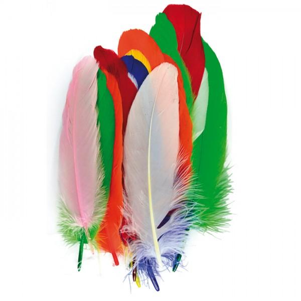 Indianerfedern ca. 11-15cm 28 St. bunt