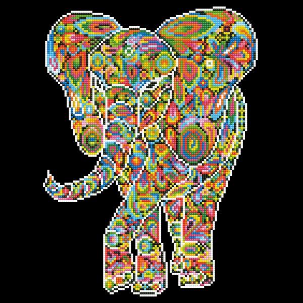 Diamond Dotz 40x40cm Mosaik-Elefant