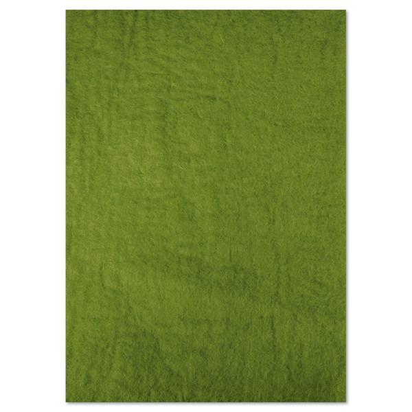 Naturfilzplatte ca. 5mm 50x70cm moosgrün 100% Wolle