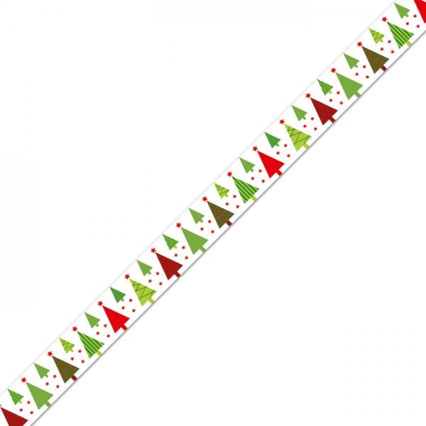 Masking-Tape 15mm breit 10m Weihnachtsbaum Klebeband aus Reispapier