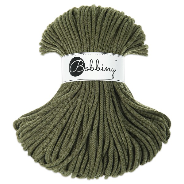 Bobbiny Rope-Garn Premium Ø5mm avocado ca. 400g-500g, 100% Baumwolle, LL 100m, Nadel Nr. 10-12