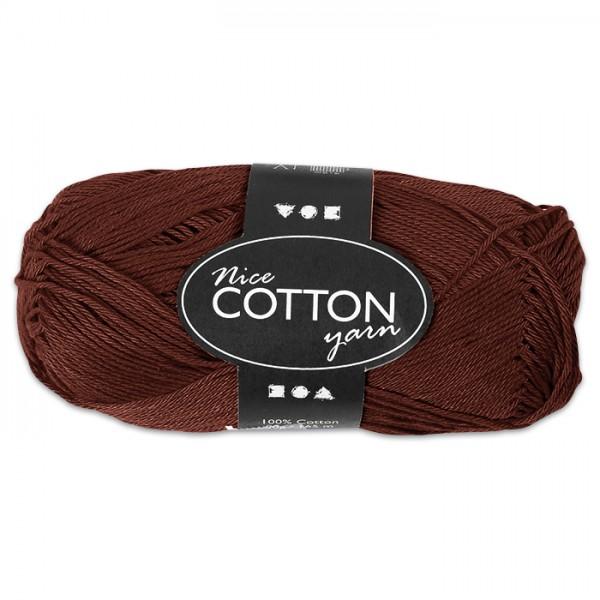 Baumwollgarn 50g braun 100% Baumwolle, für Nadel Nr. 4