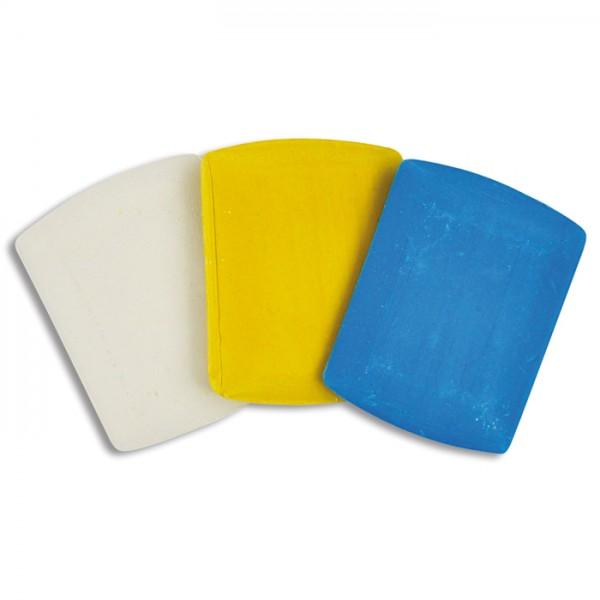 Schneiderkreide 33x42x4mm 3 St. weiß/blau/gelb