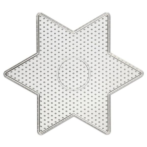Steckplatte Stern Kunststoff Ø 15cm transparent für Nabbi-Bügelperlen medium