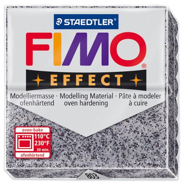 FIMO effect 55x55x15mm 57g Steinfarbe granit ofenhärtende Modelliermasse