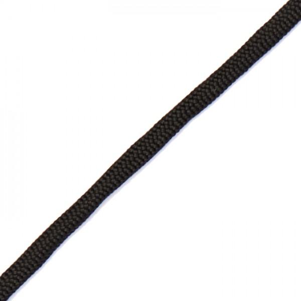 Paracord-Garn flach 2x4mm 4m schwarz Makramee-Knüpfgarn, Polypropylen
