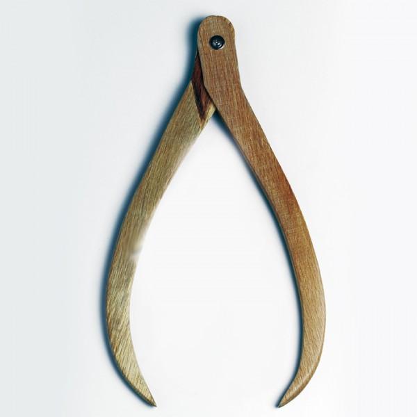Töpferzirkel Schenkellänge 17cm Hartholz