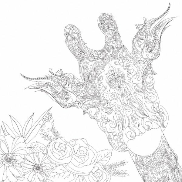 bedruckter Keilrahmen 30x30x2cm Giraffe